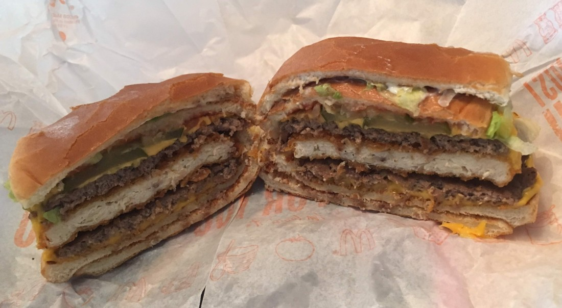 "McGangBang, an item from the ""secret menu"" world."